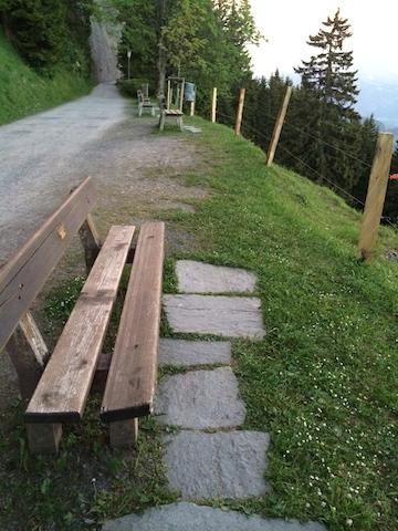 Rigi Kaltbad (LU) : Une idée ingénieuse pour éviter la boue sous les pieds...